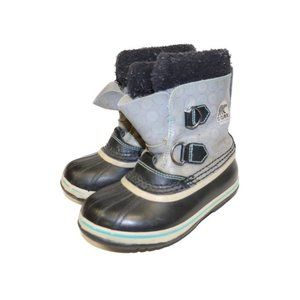 Sorel Youth Caribou Grey Winter Snow Boots